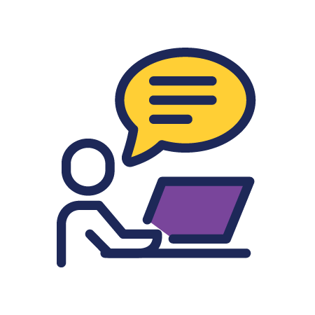 person-chat-computer-work-employee-talk-icon